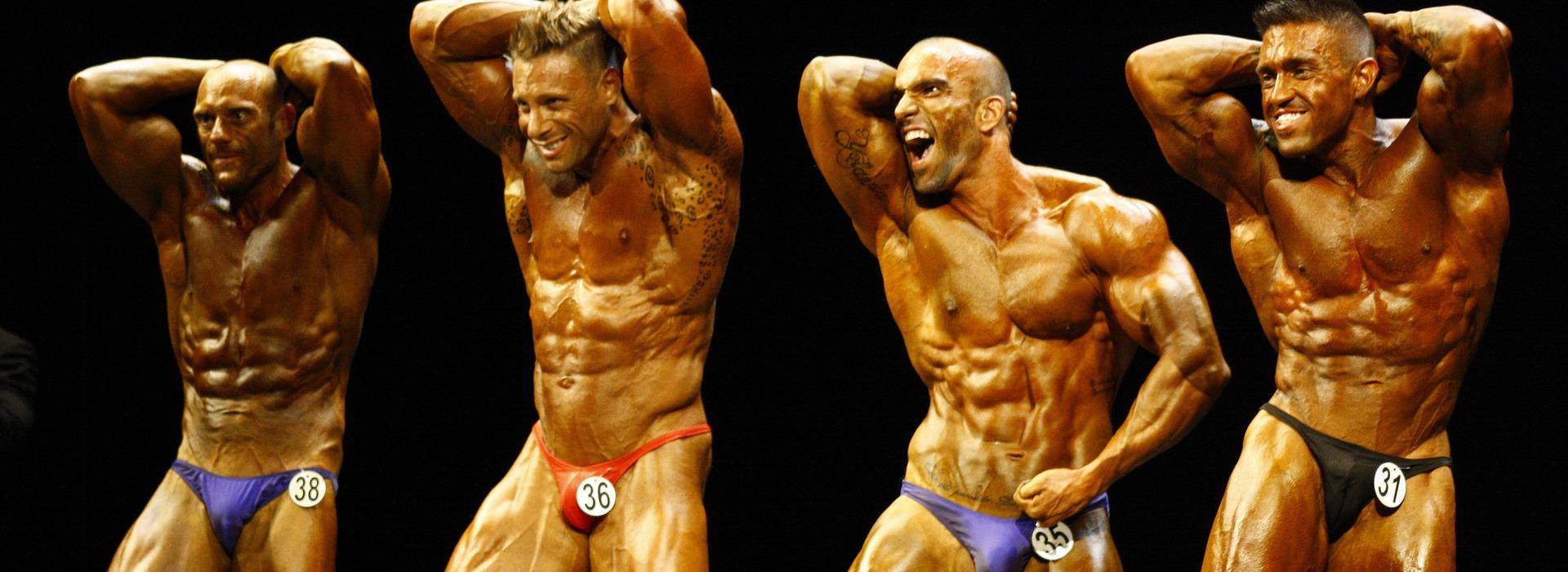 Bodybuilding Athleten Bühne