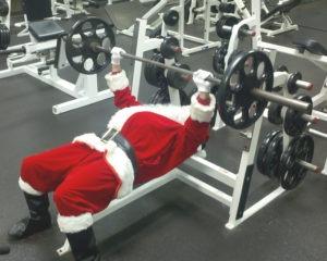 Benching Santa