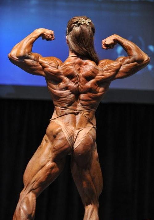 Frau Rücken Muskeln